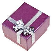 Caja de regalo pequeño púrpura — Foto de Stock