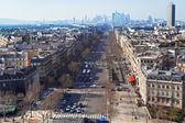 Avenue de la Grande Armee in Paris — Stock Photo