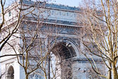 View of Triumphal Arch in Paris — Stock Photo