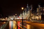 City Hall in Paris at night — Stock Photo