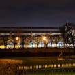 Musee d'Orsay in Paris at night — Stock Photo