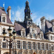 Facade of Hotel de Ville (City Hall) in Paris — ストック写真