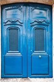 French blue wooden door — Stock Photo