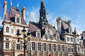 Facade of Hotel de Ville (City Hall) in Paris — Stock Photo