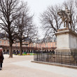 Statue of Louis XIII on Place Des Vosges in Paris - Stock Photo