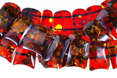 Strings of amber necklace — Стоковое фото