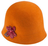 Felt ladies cloche hat — Stock Photo