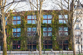 Green wall of Quai Branly Museum in Paris — Stock Photo