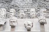 Stone heads from Notre-Dame at the Cluny Museum — Stock Photo