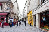 Bairro judeu de le marais em paris, frança — Fotografia Stock
