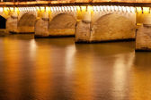 Pont neuf i paris på natten — Stockfoto