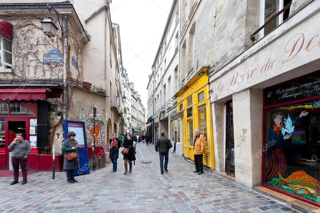 Barrio judío de le marais de París, Francia — Foto ...