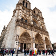 Facade of Notre-Dame de Paris — Stock Photo