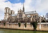 Cathedral Notre-Dame de Paris — Stock Photo