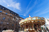 Merry-go-round carousel in Paris — Stock Photo