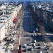 Stock Photo: Above view of Avenues des Champs Elysees in Paris