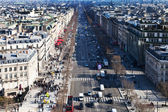 Above view of Avenues des Champs Elysees in Paris — Stock Photo