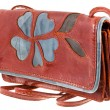Small Handy leather woman bag — Stock Photo