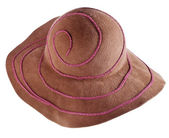 Brown broad-brim felt hat — Stock Photo