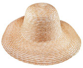 Simple rural straw broad-brim hat — Stock Photo