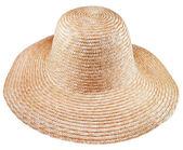 簡単な農村わらの広いつばの帽子 — ストック写真