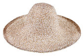 Simple summer straw broad-brim hat — Stock Photo