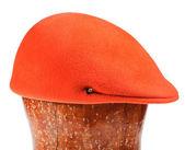 Felt orange flat cap — Stock Photo