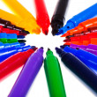 Tips of varicolored felt pens — Stock Photo