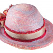 Painted summer straw hat — Stock Photo
