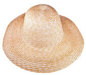 Country straw broad brim hat — Stock Photo