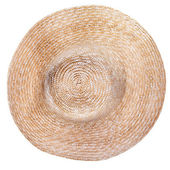Top view of country straw broad brim hat — Stock Photo