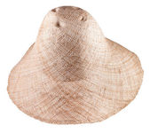 Simple rural straw wide brim hat — Stock Photo