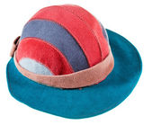 Felt bongrace hat with wide cap peak — Stock Photo