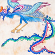 Flying blue dragon — Stock Photo