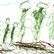 Child's drawing - green — Stock Photo #25245321