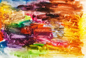 Child's painting - abstract bright brush strokes — Stock Photo
