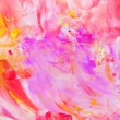Child's painting - abstract pink brush strokes — Stock Photo