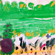 Child's painting - green forest glade — Stock Photo #25264341