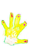 Child's drawing - yellow palm — Stock Photo