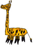 Child's drawing - giraffe — Stock Photo