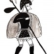 Warrior from Mycenae — Stock Photo