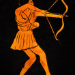 Ancient Greek archer — Stock Photo