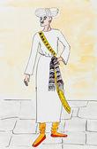 Arab man in traditional dress — Stock Photo