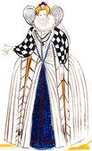Invändig franska adeln klänning — Stockfoto