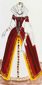 Royal costume in France late 16th century — Stock Photo
