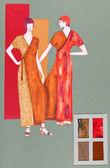 Long, elegant dresses — Stock Photo