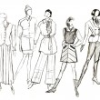 Layouts of female clothes — Stock Photo
