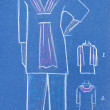 Sketch of women casual and home clothing — Stock Photo