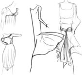 Skirts of women summer dresses — Stock Photo