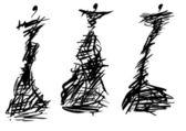 とげのあるブッシュのイブニング ドレスのデザイン — ストック写真
